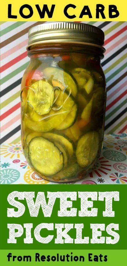 Low Carb Bread And Butter Pickles  Low Carb Keto Sweet & Spicy Pickles