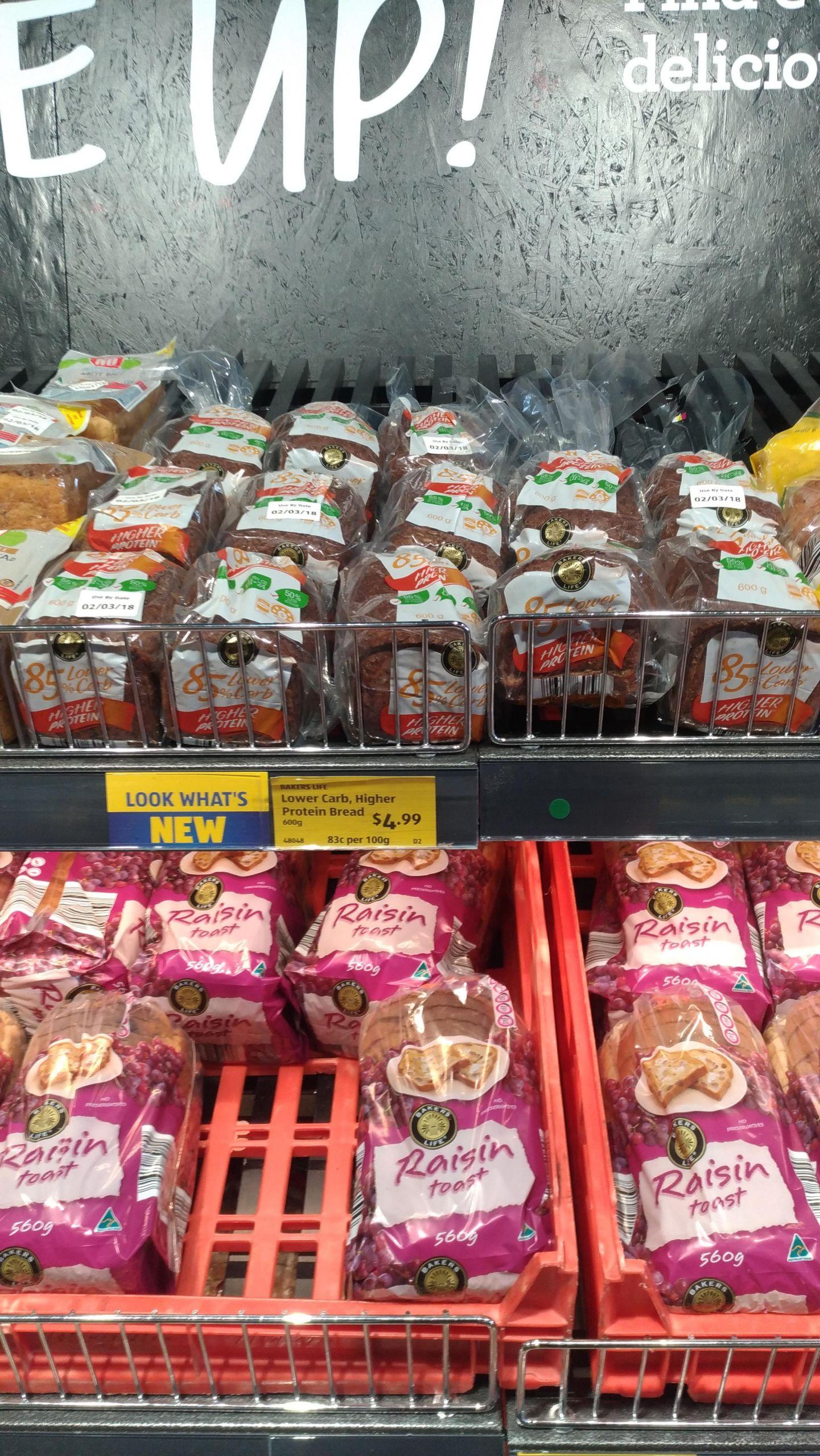 Low Carb Bread In Stores  Aldi Low Carb Bread [5 4g 100g] seen in WA ketoaustralia