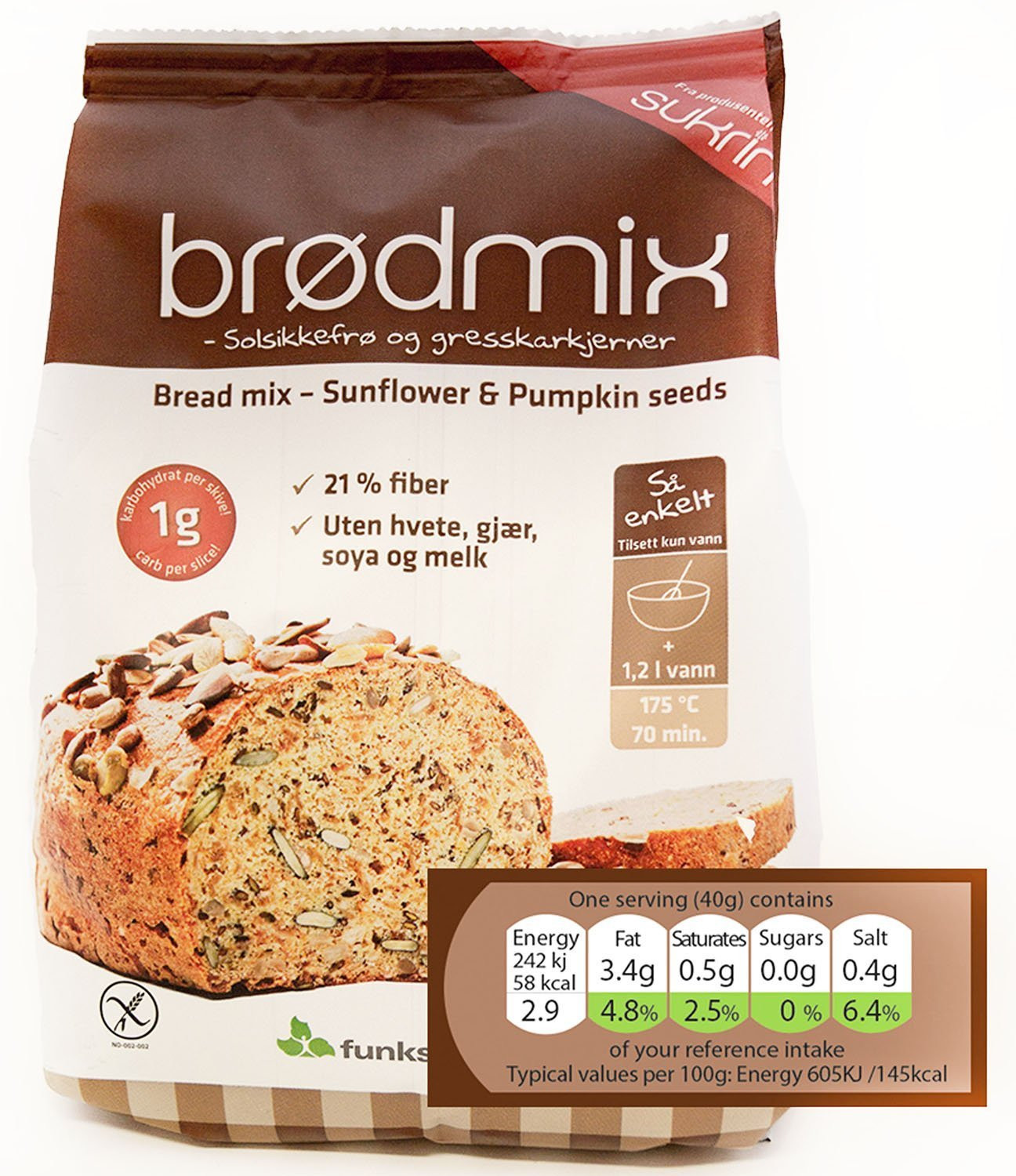 Low Carb Bread In Stores  Sukrin Low Carb Bread Mix 1000 g