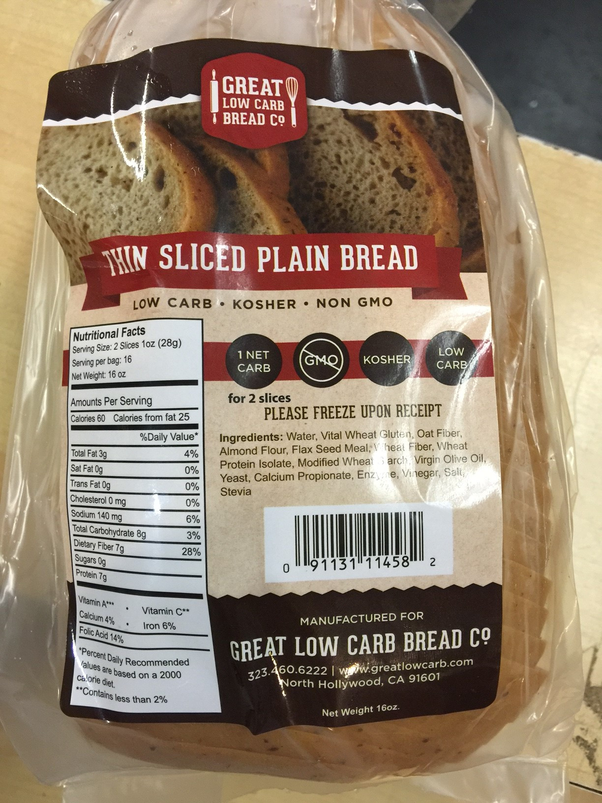 Low Carb Bread In Stores  Great Low Carb Thin Sliced Plain Bread – Lo Carb U