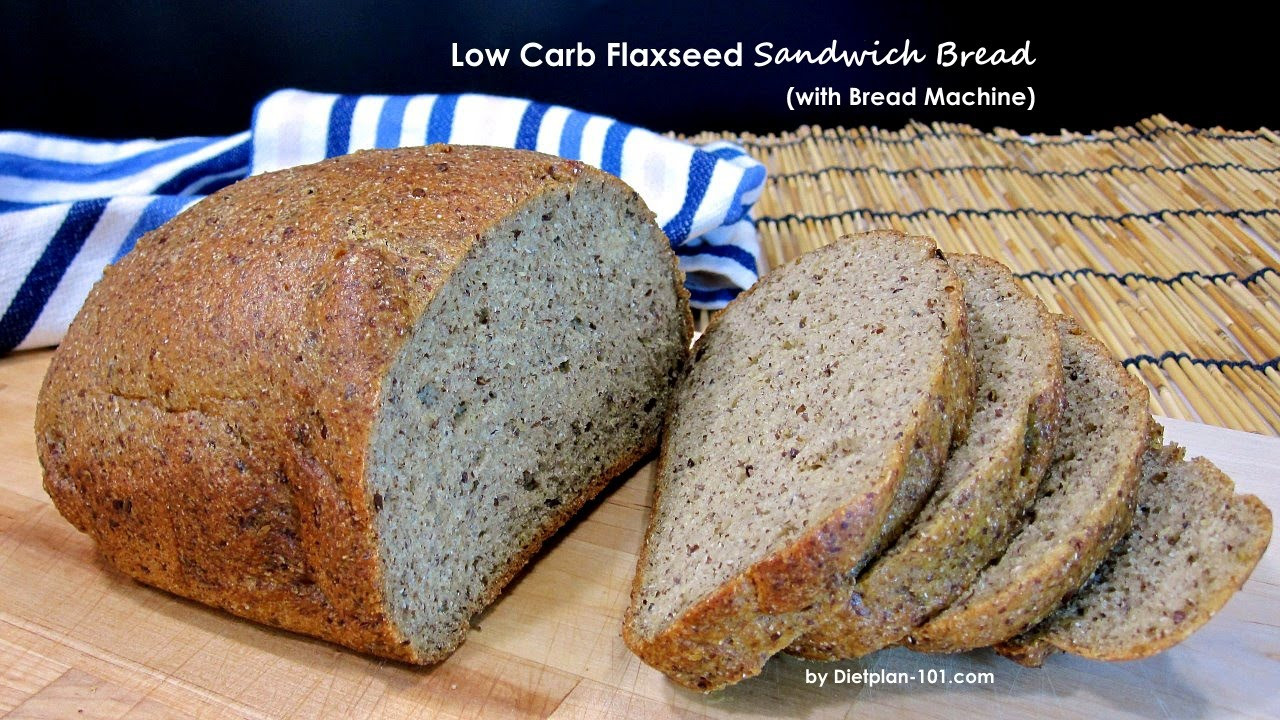 Low Carb Bread Maker Recipes  Low Carb Flaxseed Sandwich Bread with Bread Machine