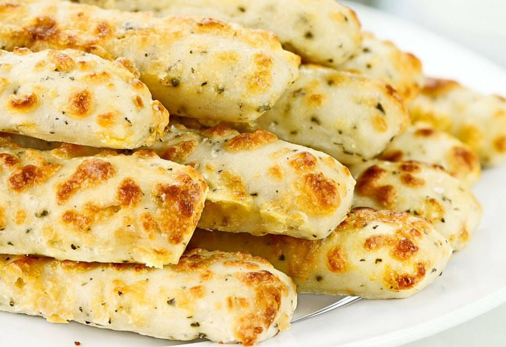 Low Carb Bread Sticks Garlic Breadsticks  Low Carb Bread Cheesy Garlic Cauliflower Bread Sticks