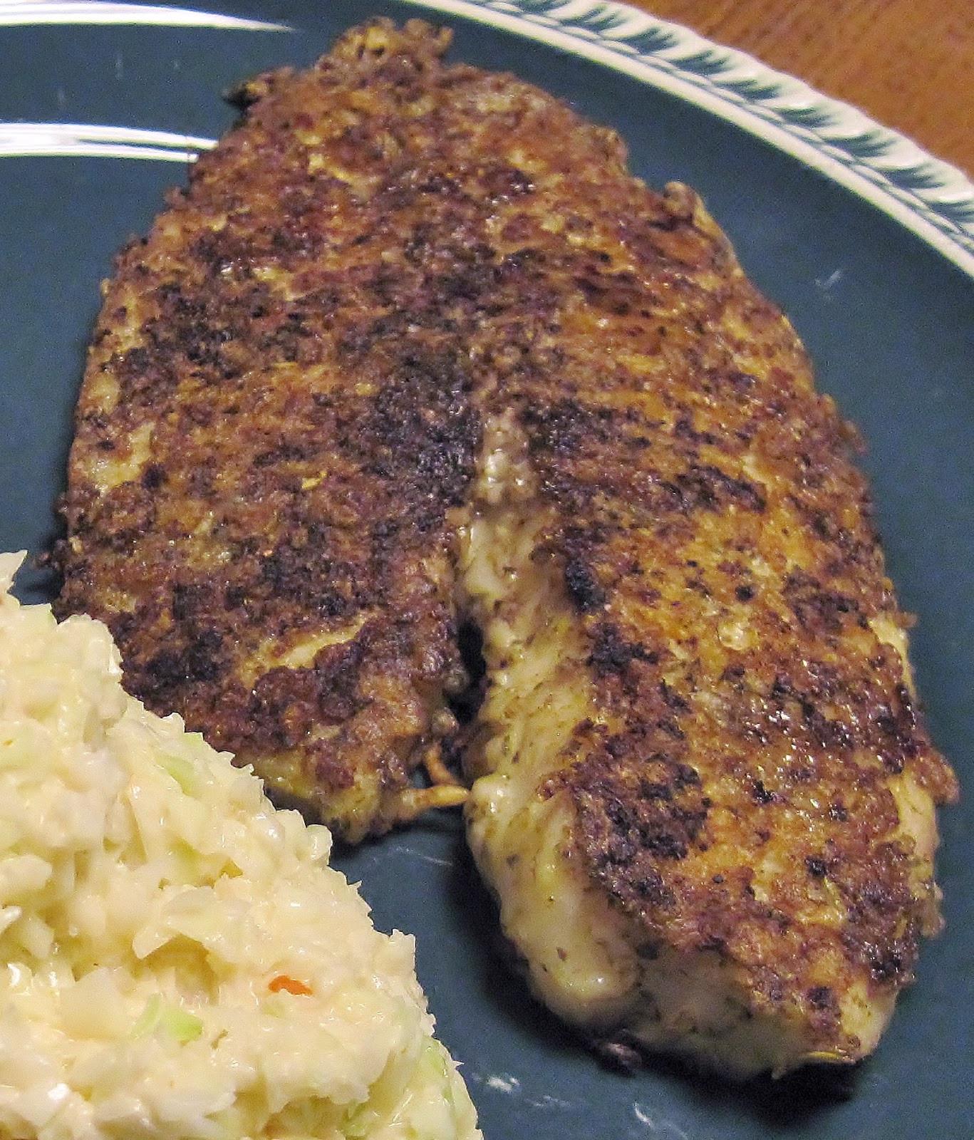 Low Carb Breaded Fish  Carolina Sauce pany Low Carb Recipe Parmesan Crusted Fish