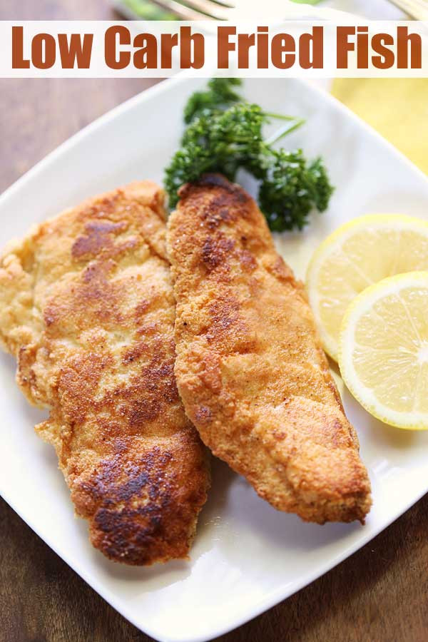 Low Carb Breaded Fish  Low Carb Fried Fish Almond Flour [Recipe VIDEO
