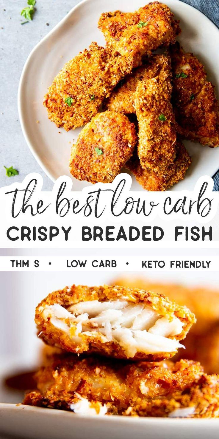 Low Carb Breaded Fish  Low Carb Oven Fried Fish Recipe