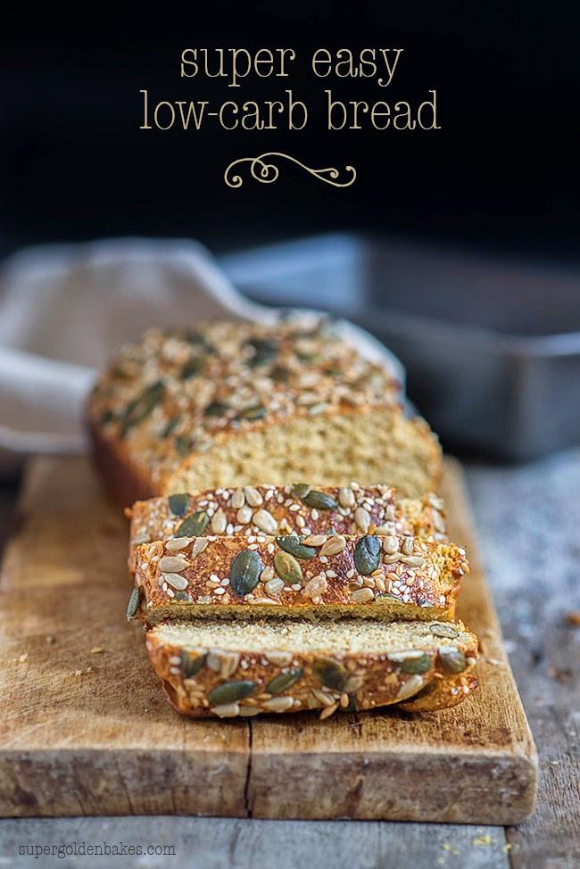 Low Carb Healthy Bread  Super easy Dukan Diet bread supergolden bakes