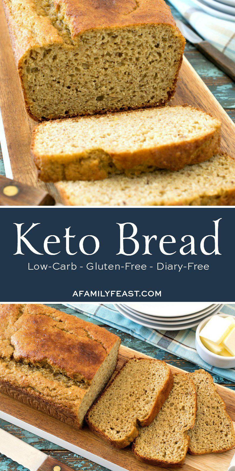 Low Carb Healthy Bread  Homemade Keto Bread Soft moist and delicious low carb