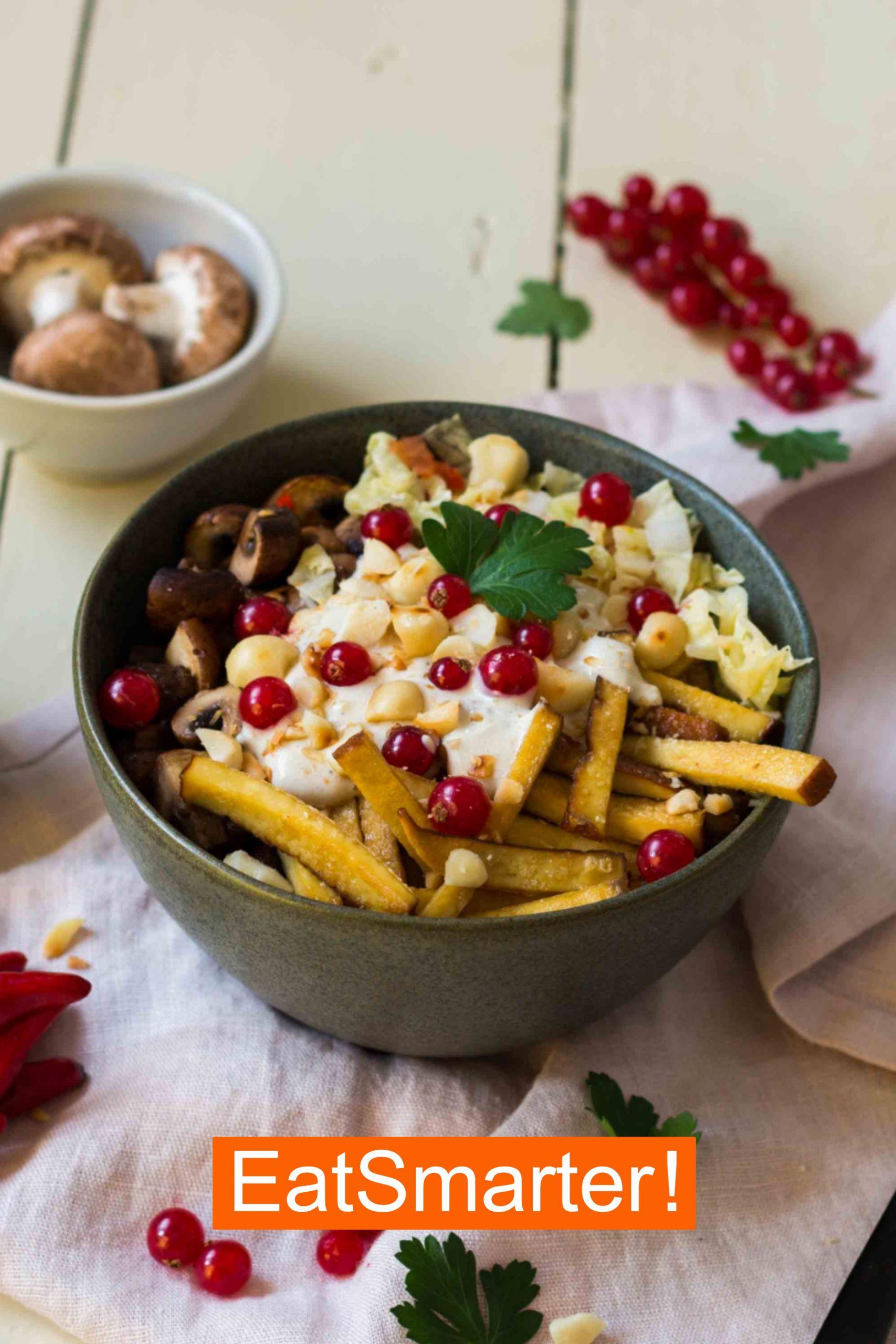 Low Carb Keto Rezepte Deutsch  Keto Bowl mit Pilzen und Chinakohl