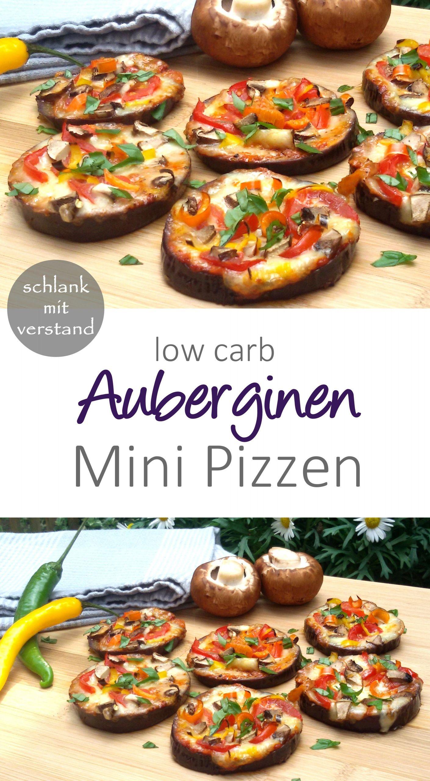 Low Carb Keto Rezepte Deutsch  low carb Auberginen Mini Pizzen