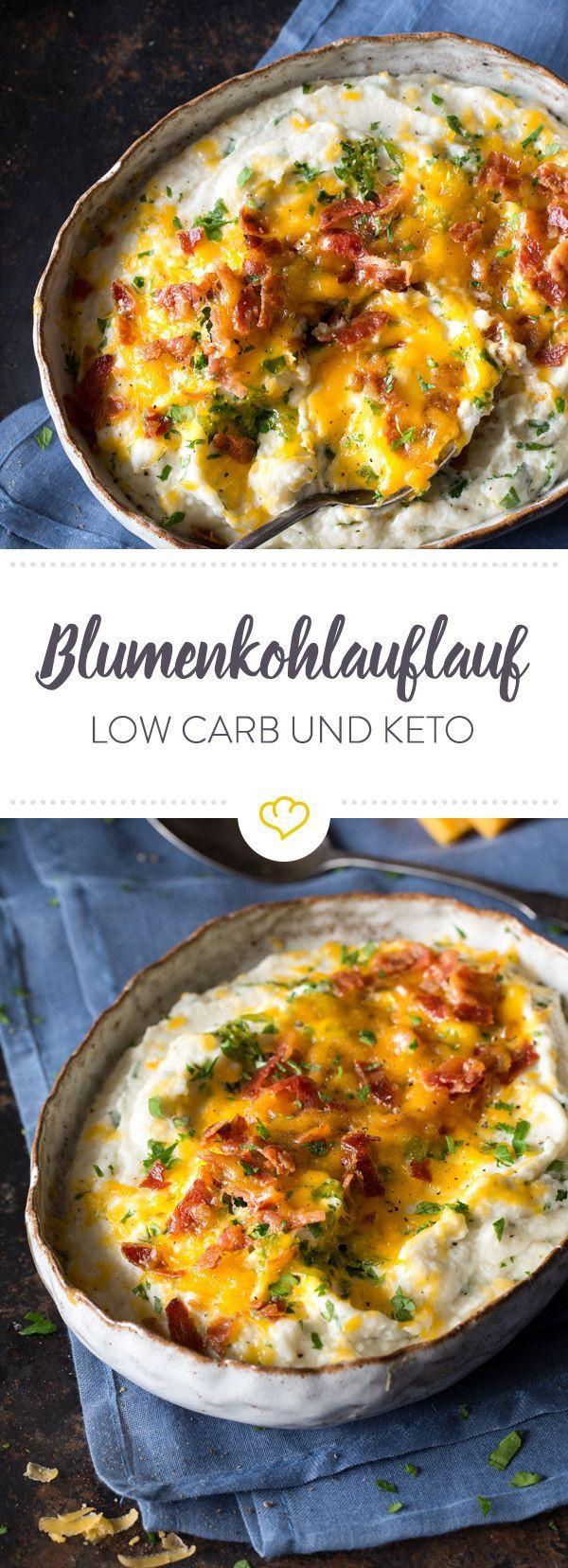 Low Carb Keto Rezepte Deutsch  Low Carb Keto Blumenkohlauflauf Rezept