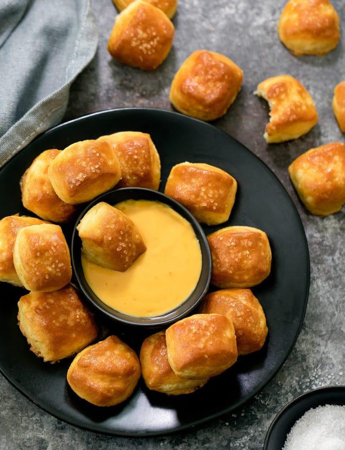 Low Carb Keto Soft Pretzel Bites  Low Carb Keto Soft Pretzel Bites Kirbie s Cravings