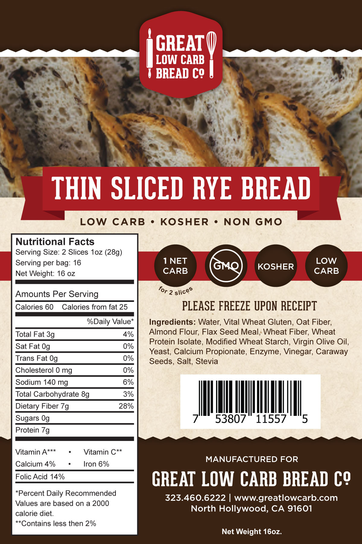 Low Carb Rye Bread  Great Low Carb Thin Sliced Rye Bread – Lo Carb U