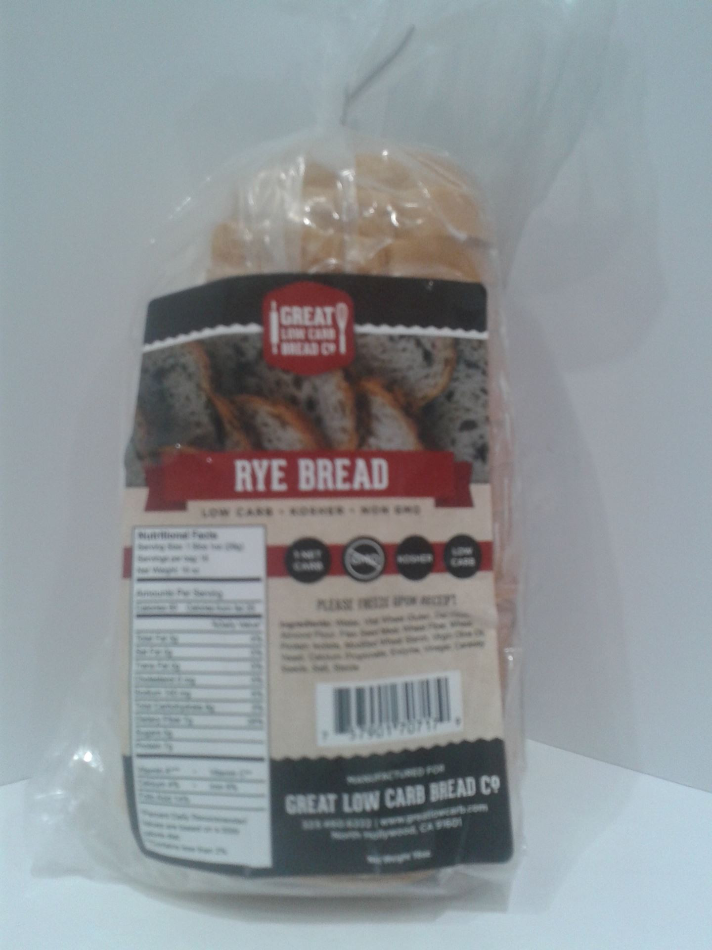 Low Carb Rye Bread  Low Fat Nutrition Low Carb Grocery Store