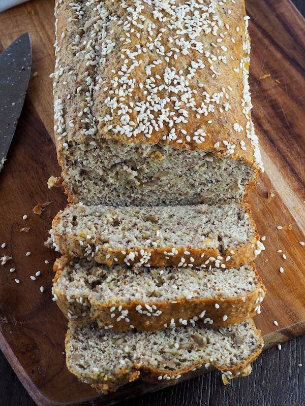 Low Fat Low Carb Bread  Low Carb Bread Recipe Keto Seeded Bread