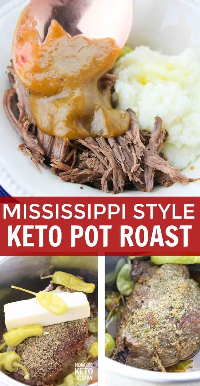 Mississippi Pot Roast Instant Pot Keto  This Instant Pot Mississippi Style Keto Pot Roast is so