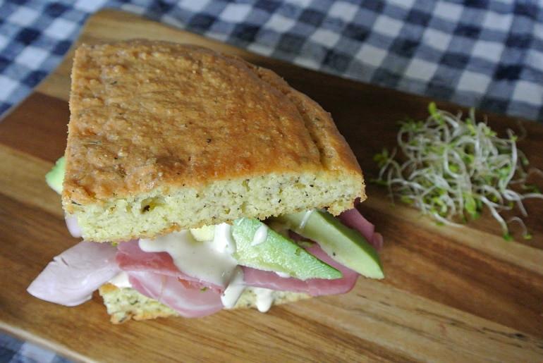 Moist Keto Sandwich Bread  Keto Sandwich