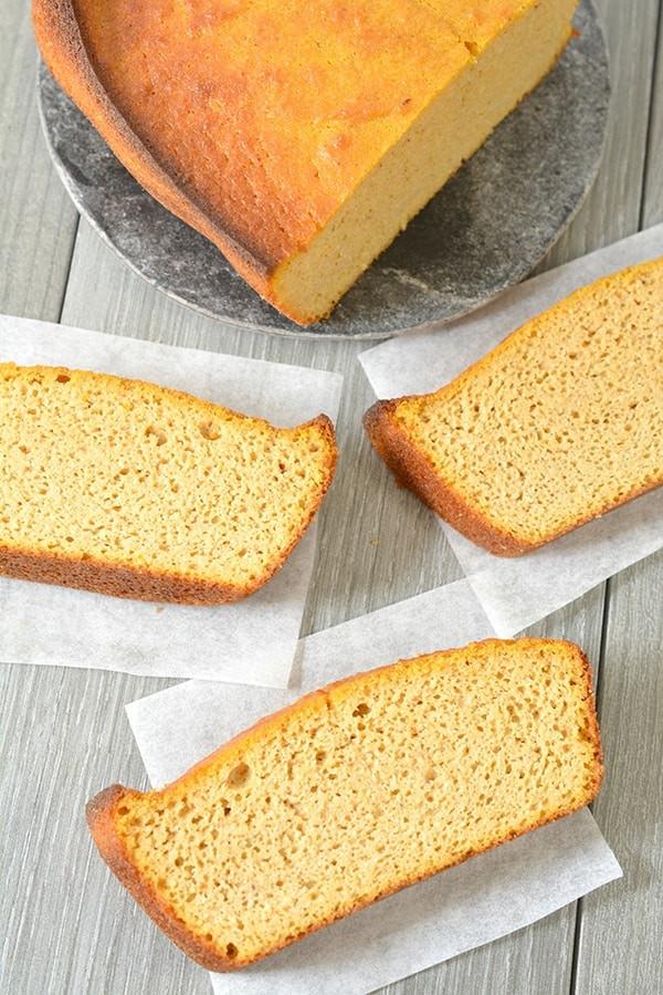 Moist Keto Sandwich Bread  Keto Spiced Pumpkin Bread SUPER SIMPLE Holiday Side Dessert