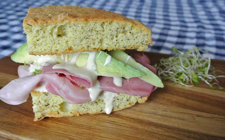 Moist Keto Sandwich Bread  Keto Sandwich Yum Dim Sum Yum Dim Sum