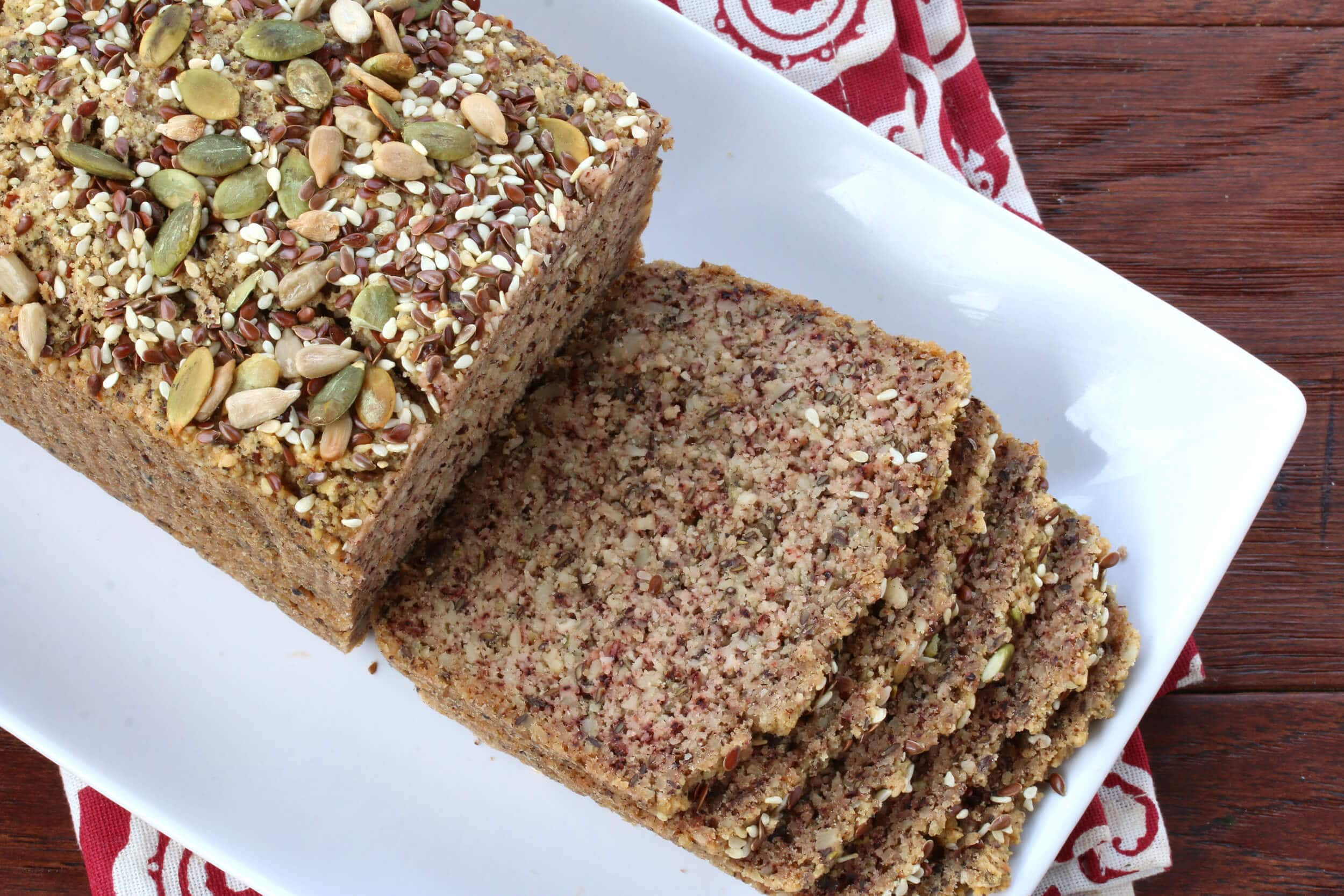 Paleo Low Carb Bread  Low Carb High Protein Nut & Seed Bread Paleo The