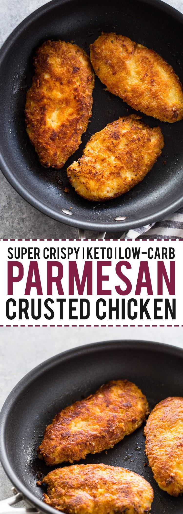 Parmesan Crusted Chicken Air Fryer Keto  Keto parmesan crusted chicken in air fryer Air Fryer