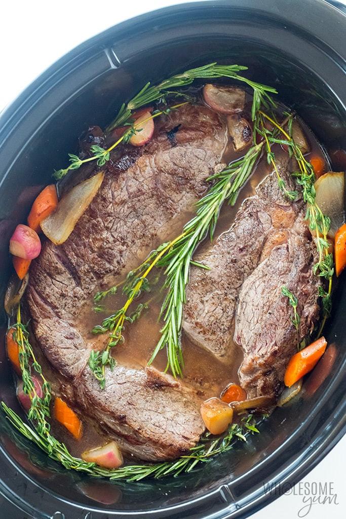 Pork Roast Crock Pot Recipes Slow Cooker Keto  Keto Low Carb Pot Roast Slow Cooker Recipe VIDEO