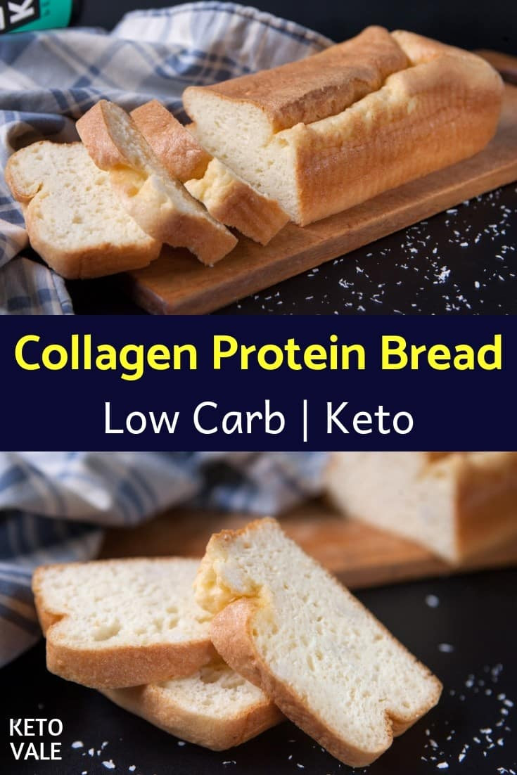 Protein Bread Recipe  Keto Collagen Protein Bread Low Carb Recipe