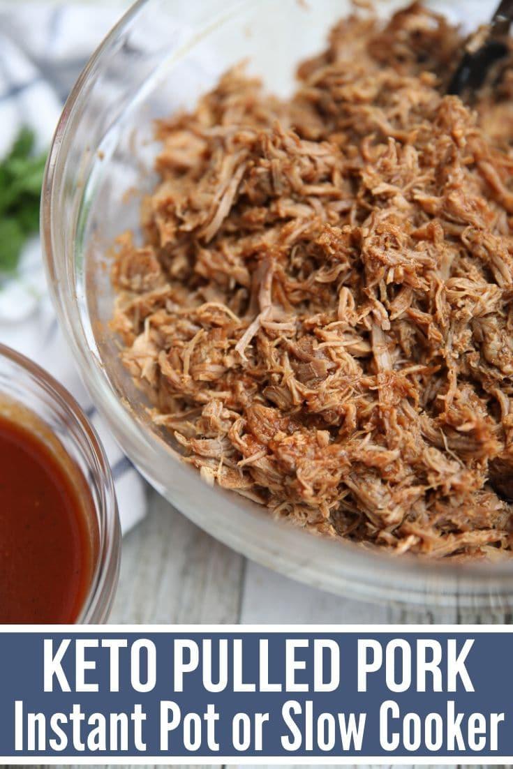 Pulled Pork Slow Cooker Keto  Easy Keto Pulled Pork Recipe Instant Pot & Slow Cooker