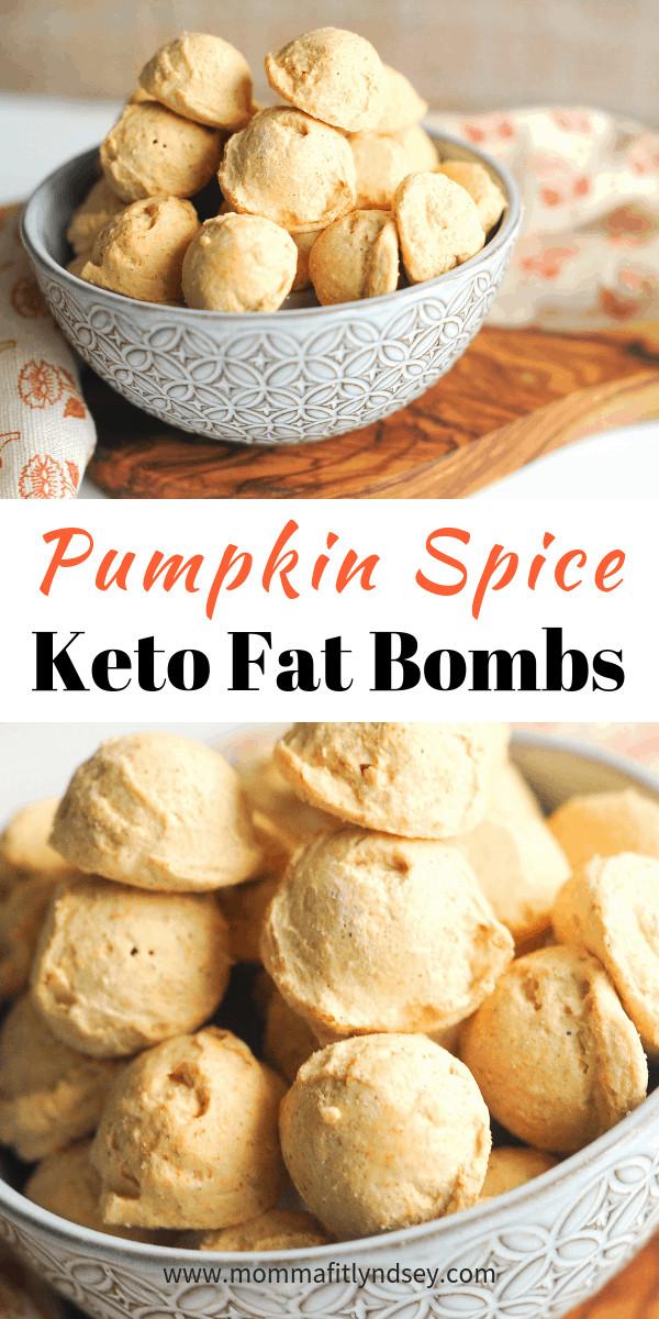Pumpkin Keto Fat Boms  Pumpkin Spice Cheesecake Keto Fat Bomb Recipe Momma Fit