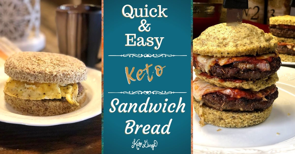 Quick Keto Sandwich Bread  Quick & Easy Keto Sandwich Bread Keto Ginger