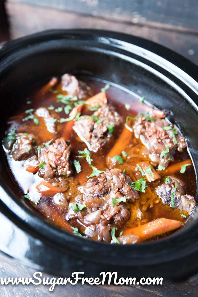 Short Ribs Slow Cooker Keto  Slow Cooker Low Carb Beef Short Ribs Paleo Keto