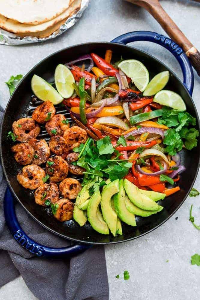 Shrimp Keto Meal Prep  Mexican Shrimp Fajitas Recipe