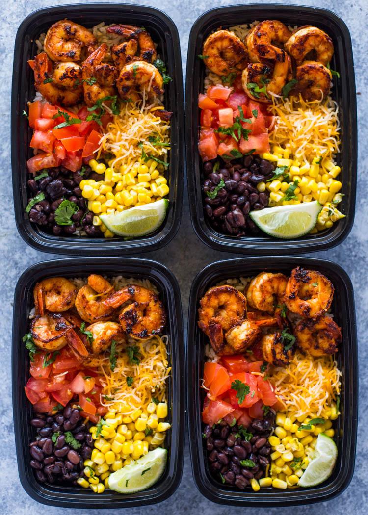 Shrimp Keto Meal Prep  Meal Prep Shrimp Taco Bowls