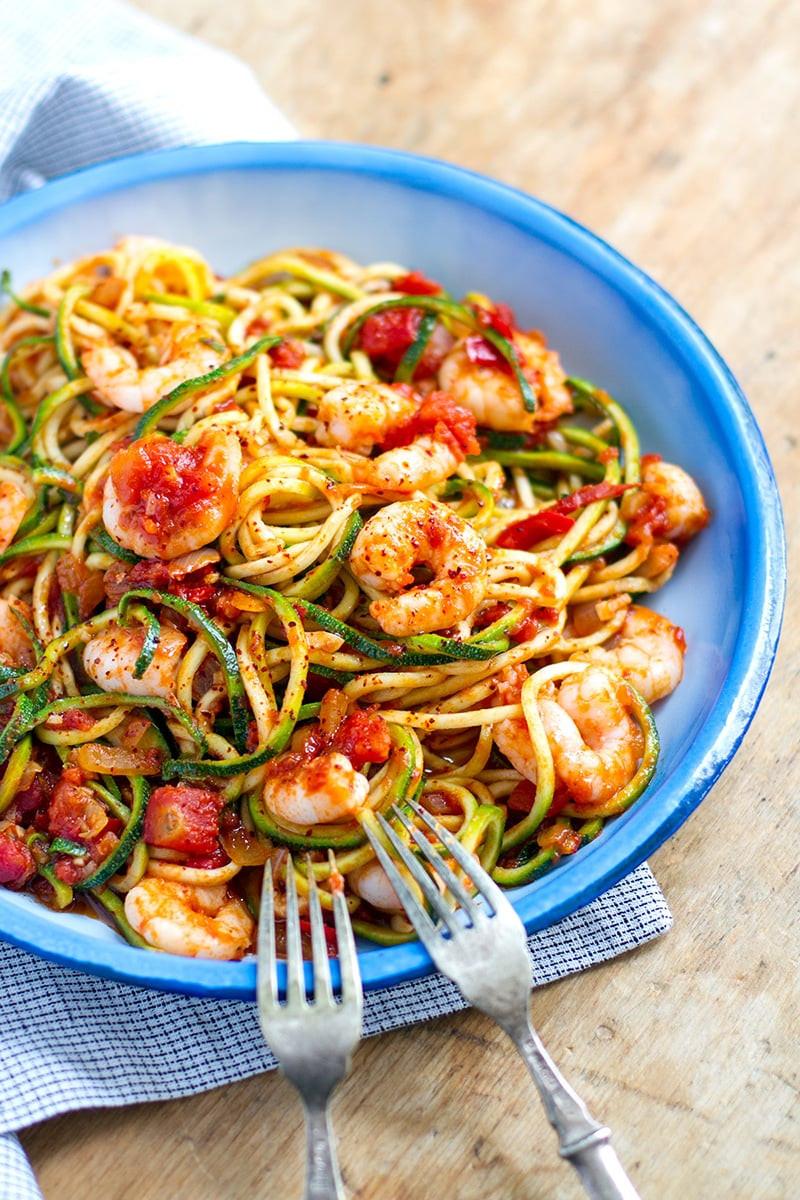Shrimp Keto Pasta  Spicy Shrimp Keto Pasta