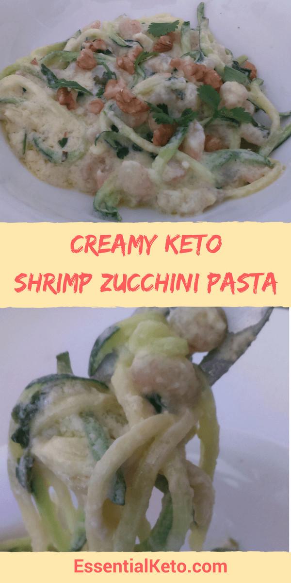 Shrimp Keto Pasta  Keto Shrimp Zucchini Pasta