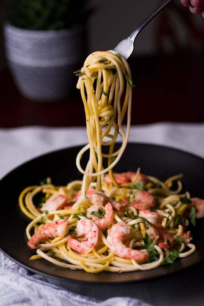 Shrimp Keto Pasta  Keto Shrimp Scampi Recipe [Low Carb Gluten Free] KETOGASM