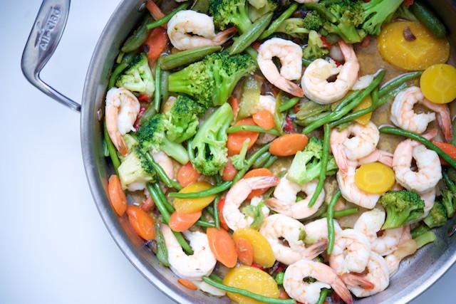Shrimp Keto Stir Fry  21dsd