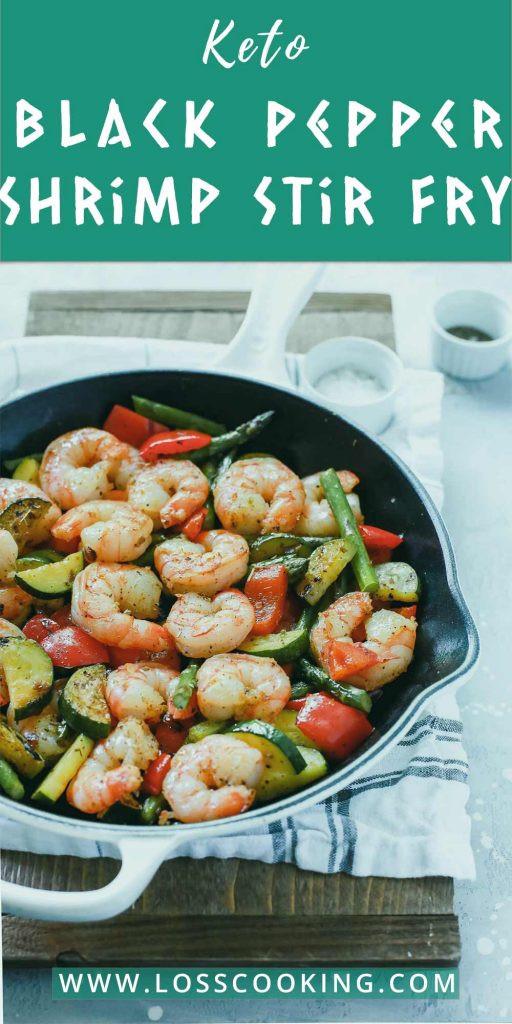 Shrimp Keto Stir Fry  Keto Black Pepper Shrimp Stir Fry