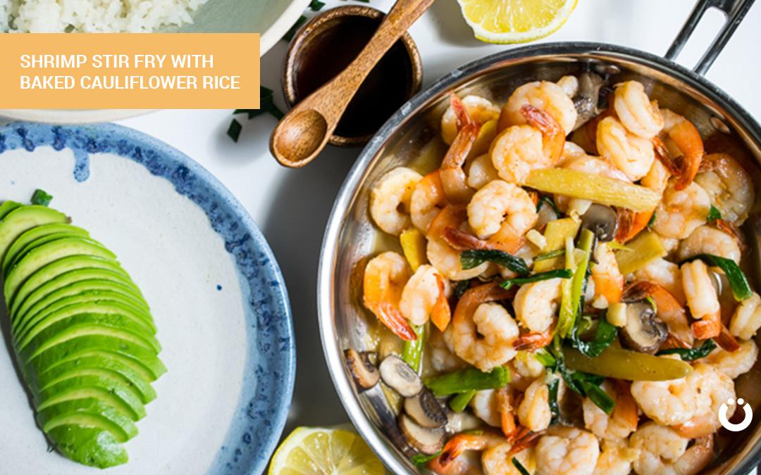 Shrimp Keto Stir Fry  Savory Shrimp Keto Stir Fry with Cauliflower Rice