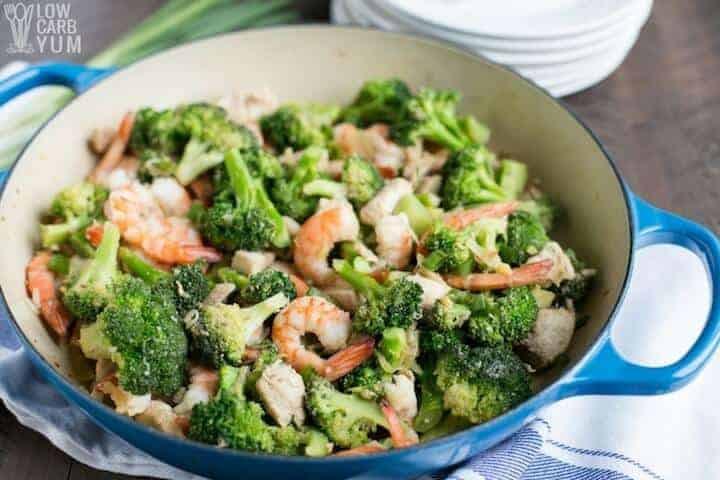 Shrimp Keto Stir Fry  Chicken and Shrimp Stir Fry with Broccoli
