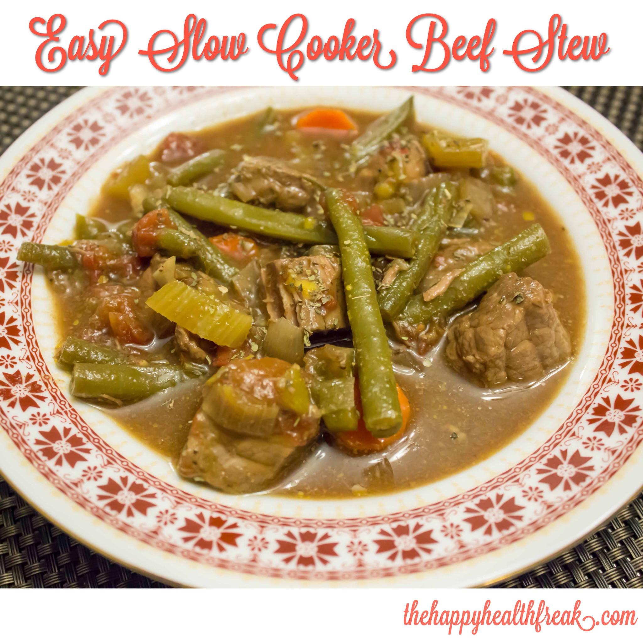 Slow Cooker Keto Beef Stew  Easy Slow Cooker Beef Stew The Happy Health Freak