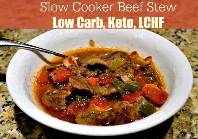 Slow Cooker Keto Beef Stew  Slow Cooker Beef Stew