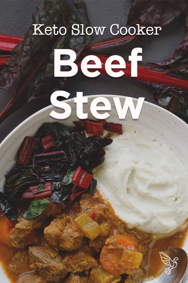 Slow Cooker Keto Beef Stew  Keto Slow Cooker Beef Stew recipe Paleo Whole30 great