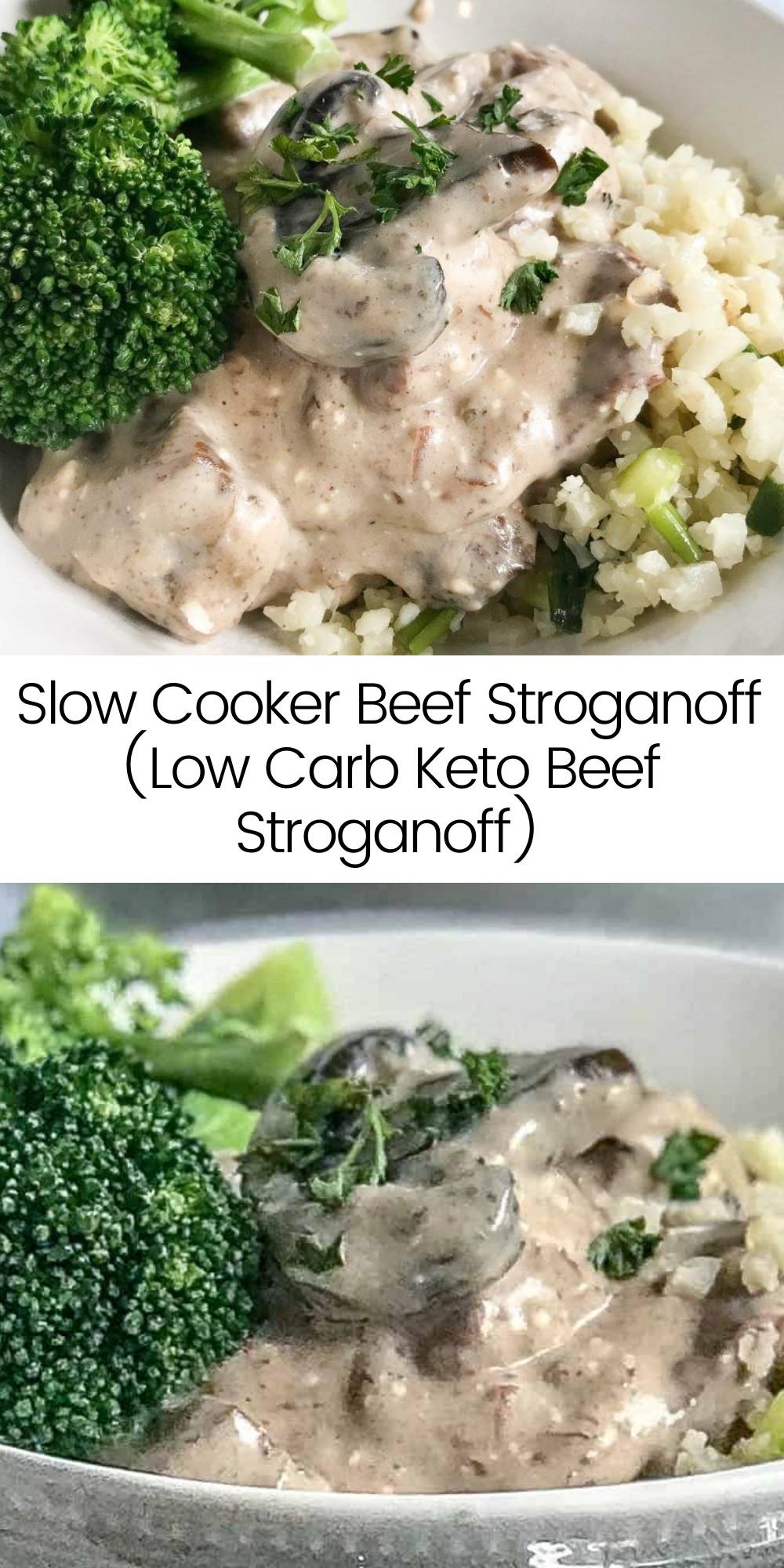 Slow Cooker Keto Beef Stroganoff  Slow Cooker Beef Stroganoff Low Carb Keto Beef Stroganoff