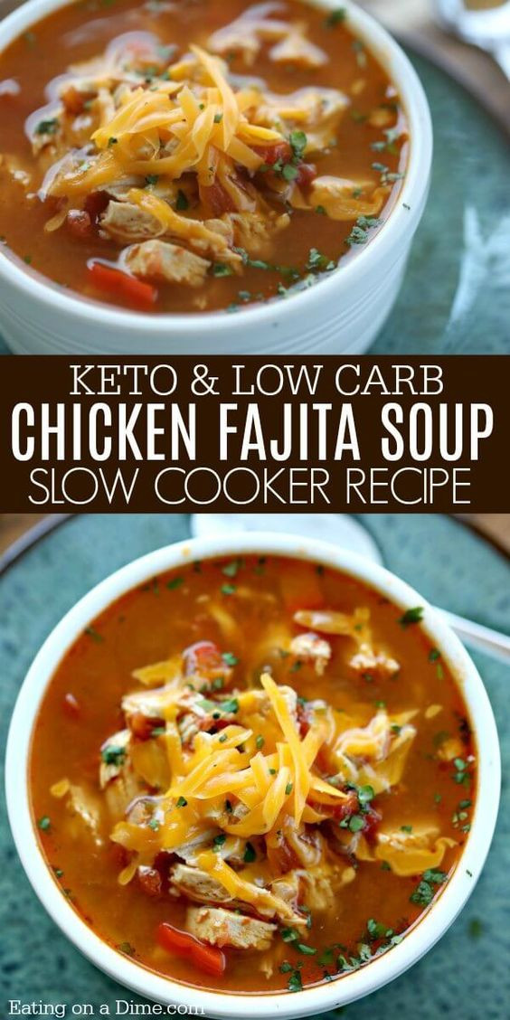 Slow Cooker Keto Chicken Soup  Low Carb Keto Soup Recipes on the Ketogenic Diet