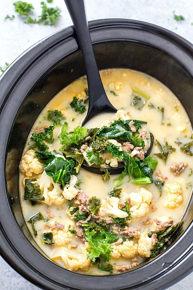 Slow Cooker Keto Recipes Low Carb  Slow Cooker Low Carb Zuppa Toscana Soup Keto Friendly