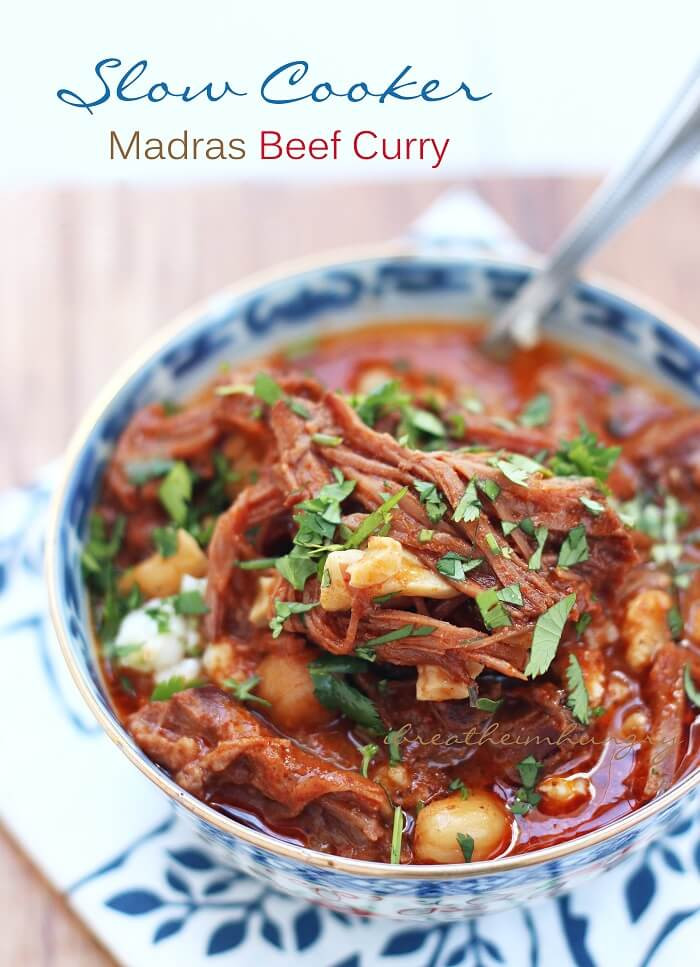 Slow Cooker Keto Recipes  Slow Cooker Madras Beef Curry Keto Low Carb