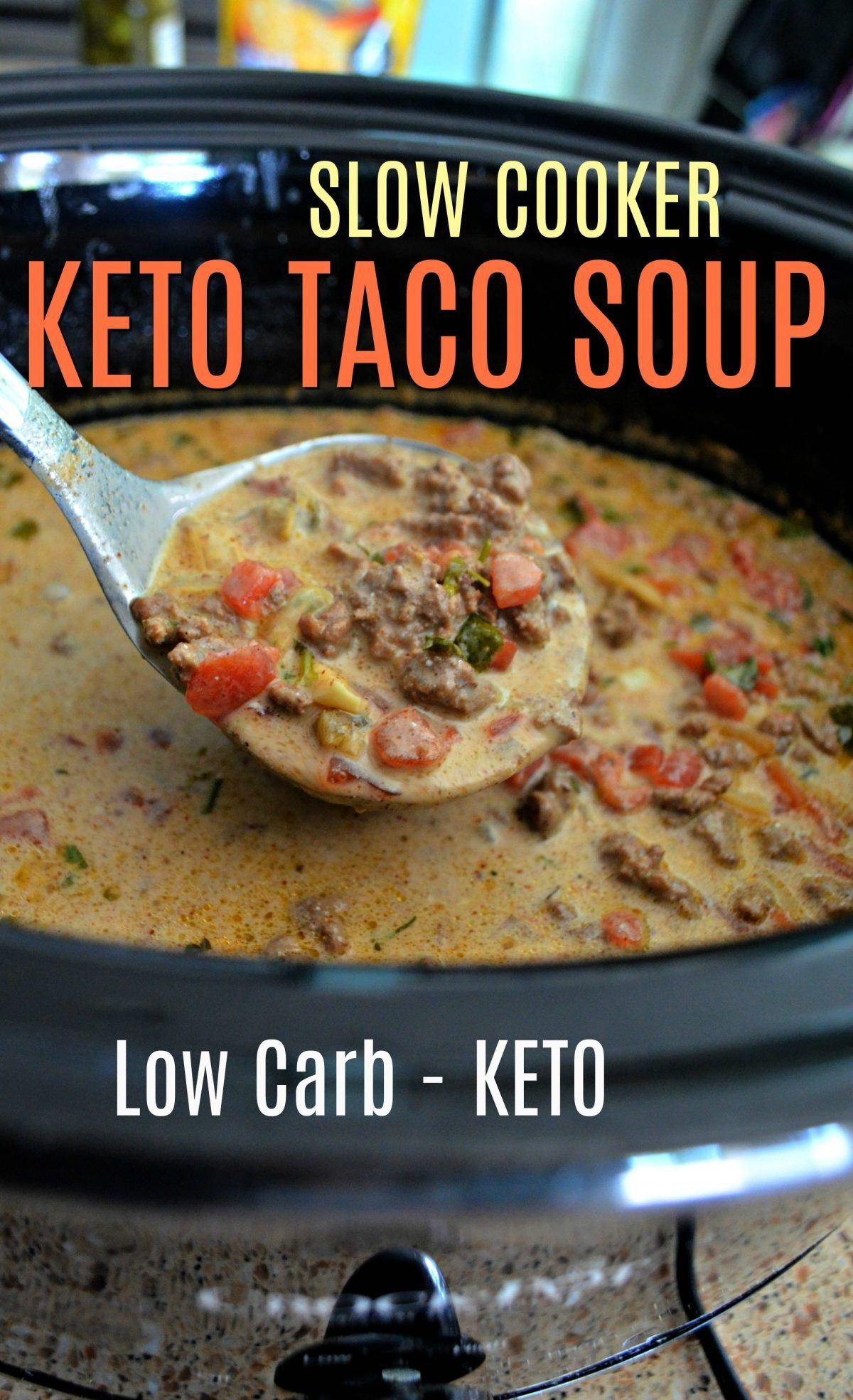 Slow Cooker Keto Taco Soup  Make the BEST Keto Taco Soup in Your Slow Cooker or