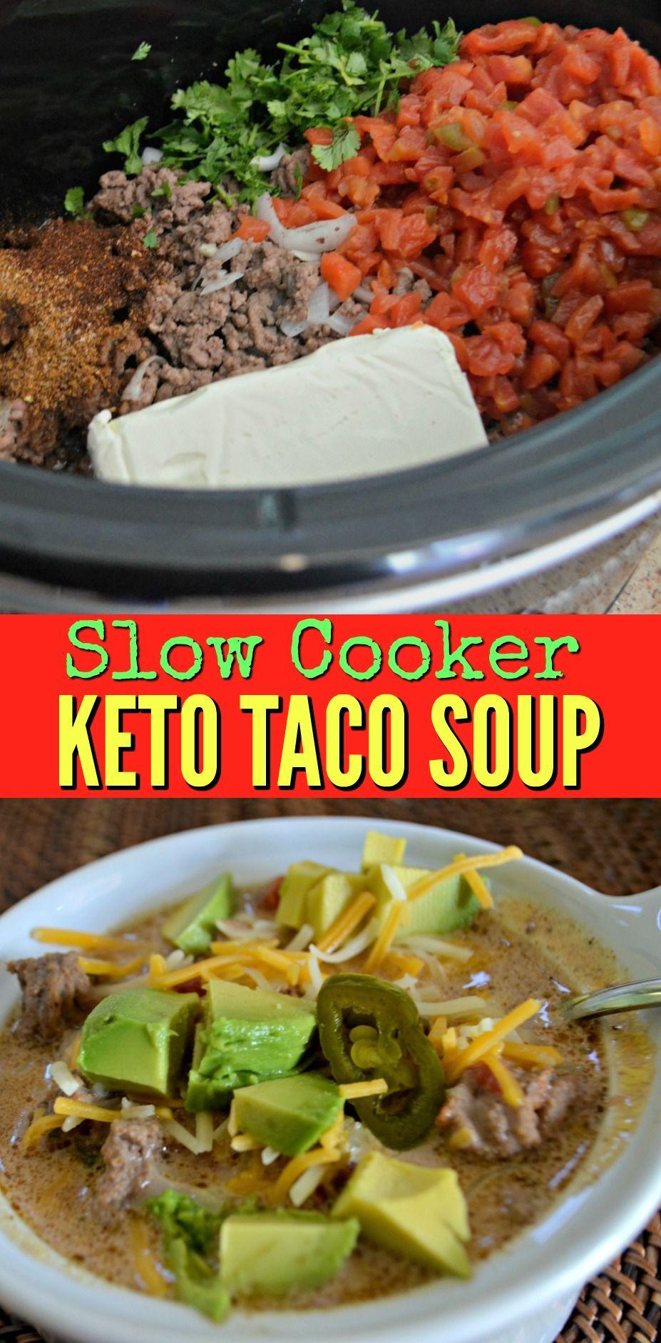 Slow Cooker Keto Taco Soup  slow cooker keto taco soup