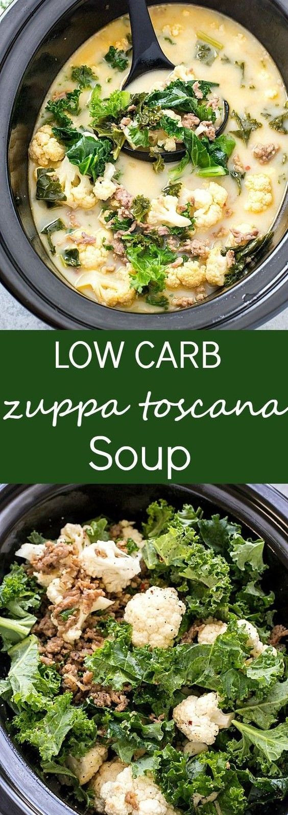 Slow Cooker Keto Zuppa Toscana  Slow Cooker Low Carb Zuppa Toscana Soup recipe food