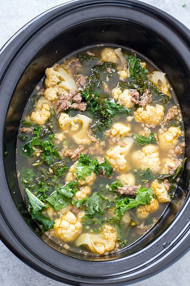 Slow Cooker Keto Zuppa Toscana  Slow Cooker Low Carb Zuppa Toscana Soup Keto Friendly